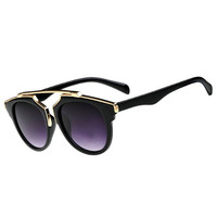 Retro Vintage Women Men Sunglasses Black Leopard Round Frame Cat Eye Eyewear Eye Glass Oculos De Sol LE3 ILML