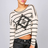 Ruled Aztec Top | Graphic Tees at Pink Ice