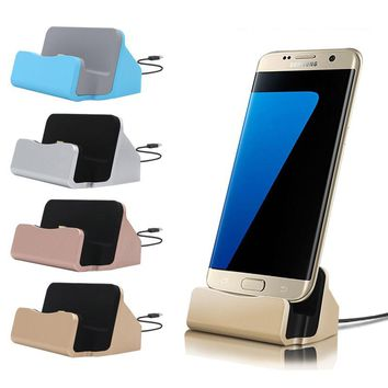Micro USB Data Sync Desktop Mobile Phone Charging Dock Stand Station Charger For Xiaomi Redmi 3 Pro Samsung Galaxy S5 S6 S7 Edge