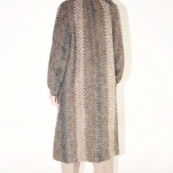Mohair Blanket Coat / M