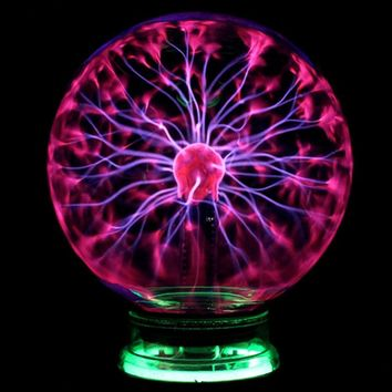 Magic Plasma Ball Sphere Light 3 4 5 6 inch Table Light Night Lamp Kids Room Gift Box Novelty Crystal Magic Plasma Ball Lighting