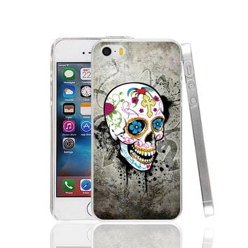 Tattoo Catrina Chicana Sugar Skull cell phone Case Cover for iPhone 4 4S 5 5S 5C SE 6 6S Plus 6SPlus