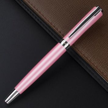 Pink and Silver Roller Ball Pen