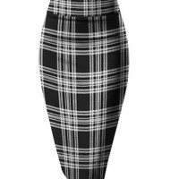 Women Plaid Pencil Skirts #2