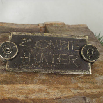 Zombie Hunter Fridge Magnet Locker Magnet Tool by ShellsNStuff