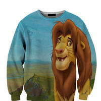 Lion King Simba All Over Custom Sublimated sweatshirt Unisex Women and Men