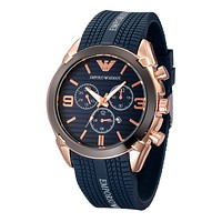 Armani The high quality fashion popular men watch with three adjustment button L-PS-XSDZBSH Blue