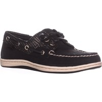 Sperry Top-Sider Songfish Boat Shoes, Black Snake, 6 US / 36 EU