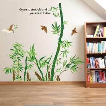 Bamboo Vinyl Wall Stickers For Home Decor