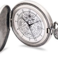 Charles-Hubert, Paris 3924 Classic Collection Antique Silver Plated Brass Quartz Pocket Watch