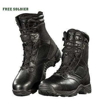 FREE SOLDIER Outdoor Sports Camping Hiking Winter High Tactical Boots For Male Waterpr