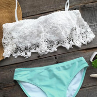 Cupshe Sweet Like Candy Lace Bikini Set