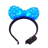 Cool Stuff - WeGlow International Light Up Hair Bow Headband, Blue, Pack of 4