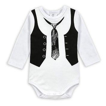 Nest Baby Bodysuit Gentleman Infant Long Sleeve Creeper Baby Boy and Girl Clothes Baby Body Suit New Born
