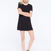 SOCIALITE Solid Womens T-Shirt Dress | Short Dresses