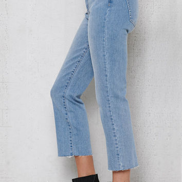 PacSun Stormy Blue Crop Kick Flare Jeans at PacSun.com