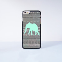 Green Elephant Aztec Generic Plastic Case Cover for Apple iPhone 6 Plus 4 4s 5 5s 5c 6