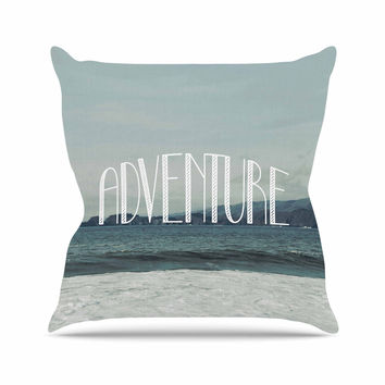 "Chelsea Victoria ""Adventure"" Blue Photography Outdoor Throw Pillow"
