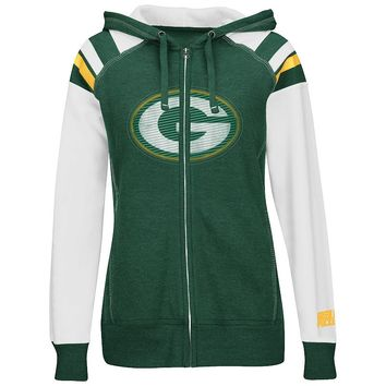 Majestic Green Bay Packers Deep Post IV Fleece Hoodie - Women's