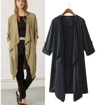 Stylish Long Sleeve Irregular Coat Women's Fashion Jacket [4919031748]