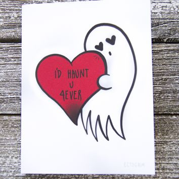 """I'll Haunt You Forever"" Goth Romance Greeting Card"