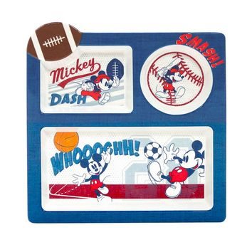 Disney Mickey Mouse Sports 9.5-in. Divided Plate by Jumping Beans (Blue)