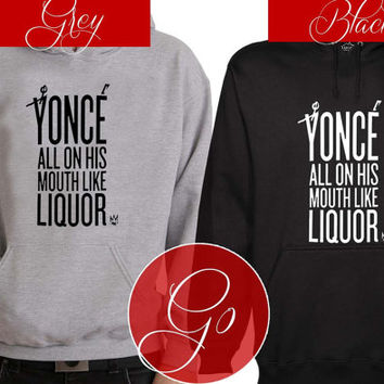 yonce Hoodie Sweatshirt Sweater Shirt black and white Unisex
