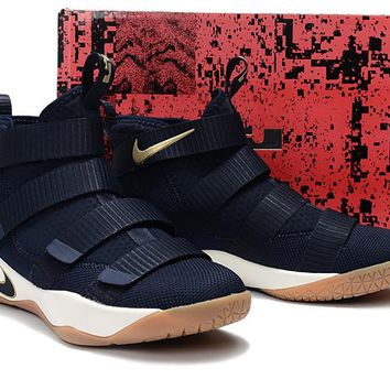 Nike LeBron Soldier 11 Navy Basketball Shoe