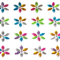 Flowers Self Adhesive Gems Stick On 16mm 120 pcs Lot 5 Triveni Crafts Scrapbook