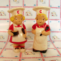 Campbell Soup Kids Salt & Pepper Shakers / Rare Campbell Soup Shakers