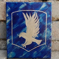 Ravenclaw Canvas Wall Art, Original Hand Painted Harry Potter Ravenclaw Canvas, Harry Potter Art Home Decor Gift