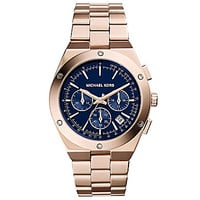 Michael Kors Ladies' Reagan Rose Gold Watch - Rose Gold