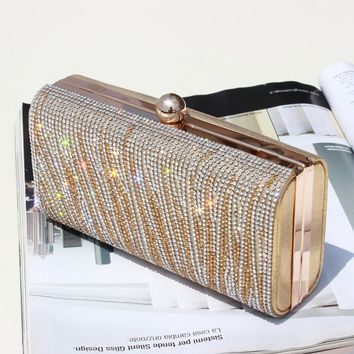 New Arrival Shimmering Evening bag Women Clutch Purse Shiny Handbags Party Wedding Silver Gold Daily Cluthes sac a main tassen