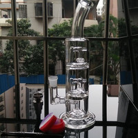 Good quality two function glass bongs oil rigs glass bongs with Domeless Titanium Nail can for tobacco and oil rig