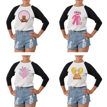 Women's Cute Animals Printed Elbow Sleeves T- Shirt WTS_03