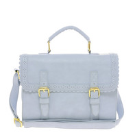 ASOS Satchel Bag With Scallop Trim And Buckles
