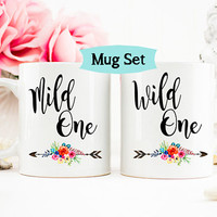 Best Friends Mug Set, Wild One, Mild One,  Best Friend Birthday Gift, Gift for sister, Funny sister Mug, Funny Friend mug