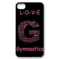 Fashion Gymnastics Personalized iPhone 4 4S Hard Case Cover -CCINO