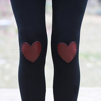 My Leather Heart Leggings // size extra small by shopflattery