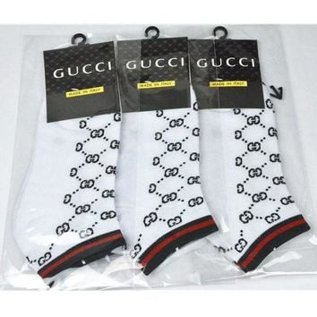 DCCKN7G GUCCI Woman Men Cotton Socks Stockings