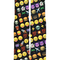 BLACK EMOJI SOCKS