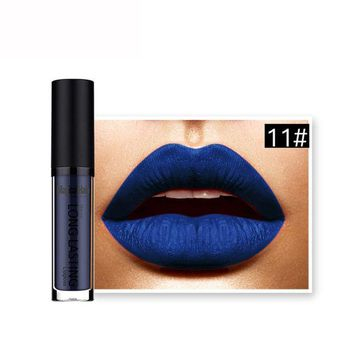 LMFON5U Best Deal 2017 NEW 1pcs Women Fashion Waterproof Dark Blue Matte Liquid Lipstick Long Lasting Lip Gloss Lipstick
