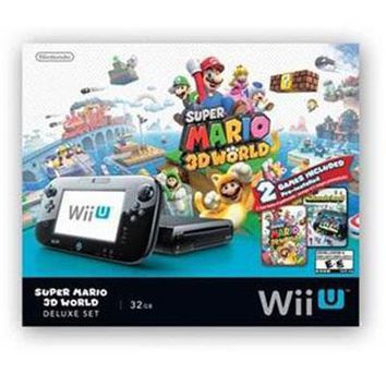 "Wii U Delux Console (Comes with ""Super Mario 3D World"" Download)"