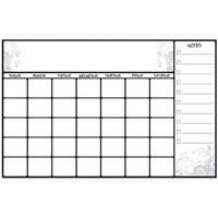 RoomMates® Scroll Dry Erase Calendar Peel and Stick Giant Wall Decal, White | Staples