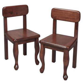 Gift Mark 3003C Queen Anne Two Chair Set - Cherry