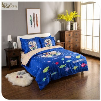 4pcs popeye cartoon bedding sets 100% cotton kids bed linen with duvet cover+bedsheet+pillow case kids cartoon bedding set