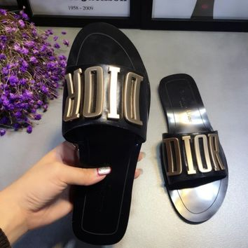 DIOR Flat bottomed slippers