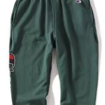 Champion Loose bundle of trousers and trousers for men and women Green
