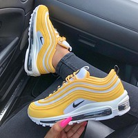 shosouvenir  : Nike Air Max 97 air cushion yellow Gym shoes
