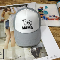 twins mama Hat, twins mom Low-Profile Baseball Cap Hat Inspired Pastel Pale Grunge Pinterest Instagram Tumblr